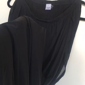 💙StreetWear Society Black Chiffon Long Skirt